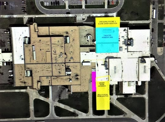 Among the preliminary plans for Salem High School include complete renovations and additions to the performing arts center, the expansion of the weight room and the addition of a multipurpose room.