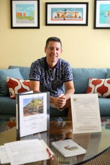 Mike Paonessa rents his Palm Springs, Calif., condo on Airbnb. He said he supports the Palm Springs vacation rental ordinance, except for one-rental-per-household restriction, on Nov. 12, 2019.