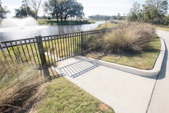 One of the city's most recently completed stormwater projects is at Corinne Jones Park, where a retention pond was added last year.