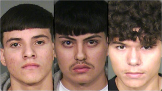 Left to right: Jorge Hernandez, Desmond Cruz Ortiz Jr. and Chad Granado Colyer