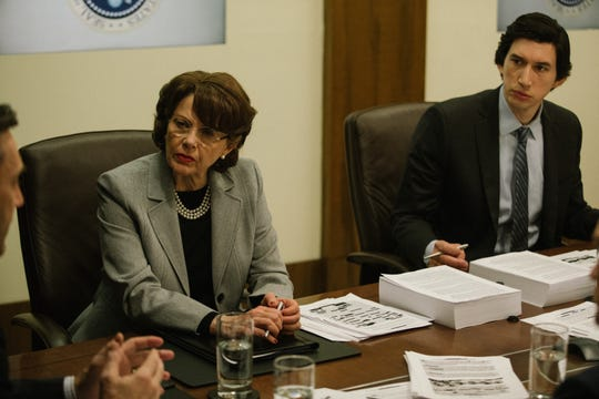 "Annette Bening and Adam Driver star in ""The Report."""