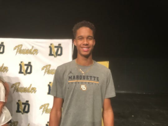 Osasere Ighodaro was among 17 Phoenix Desert Vista High School athletes Wednesday morning who signed national letters of intent to colleges at the first opportunity to do so.