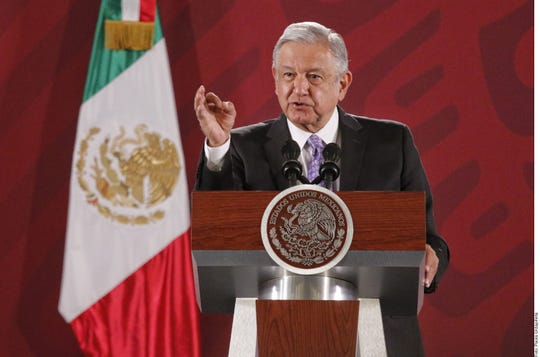 Andrés Manuel López Obrador responded to Trump's statements by encouraging people to avoid confrontational politics.