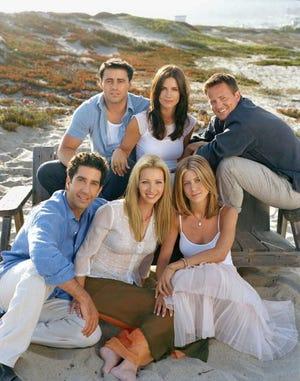 """Fotografía de archivo del elenco de la serie cómica """"""""Friends"""""""" de la cadena NBC."""