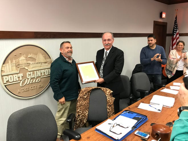 Port Clinton city officials honored George Wilber, who is finishing up his final days in office after serving as law director for 40 years.