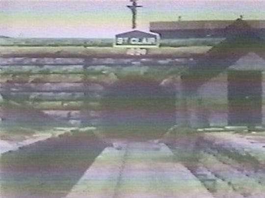 An image of the entrance to the railroad tunnel beneath the St. Clair River in Sarnia, taken from a 1903 film.