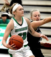 York College's Alana Bortner, seen here in a file photo, had 17 points on Wednesday in York's win over Juniata.