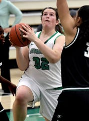 York Suburban High School graduate Molly Day, seen here in a file photo, had 14 points, eight rebounds, two assists and two blocks in Saturday's win over Southern Virginia.