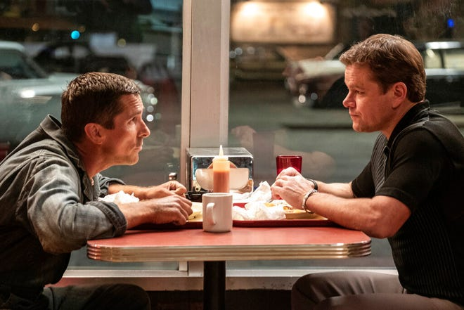"""Christian Bale, left, and Matt Damon star in """"Ford v. Ferrari."""" The movie is playing at Regal West Manchester, Queensgate Movies 13 and R/C Hanover Movies 16."""