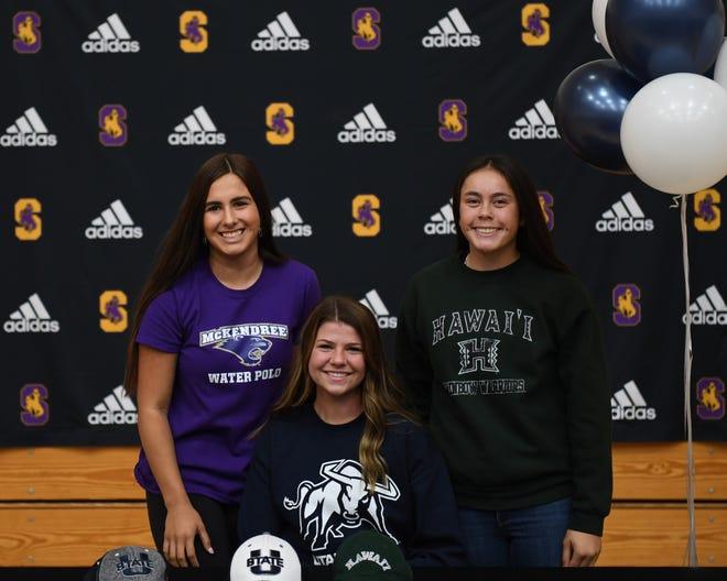 From left: Samantha Reich, Jessica Stewart and Kayla Stone. Nov. 13, 2019.