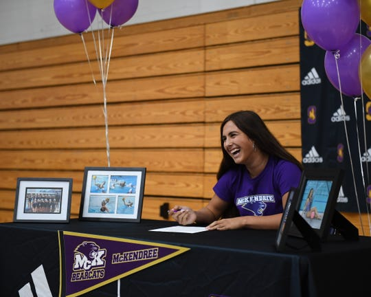 Salinas' Samantha Reich has garnered all-league honors in all four years of water polo for the Cowboys. Nov. 13, 2019.