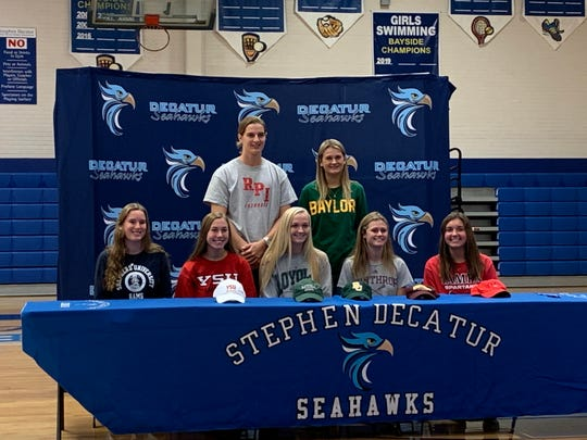Seven Stephen Decatur athletes announced their intent to play at the college level on Wednesday, Nov. 13, 2019.