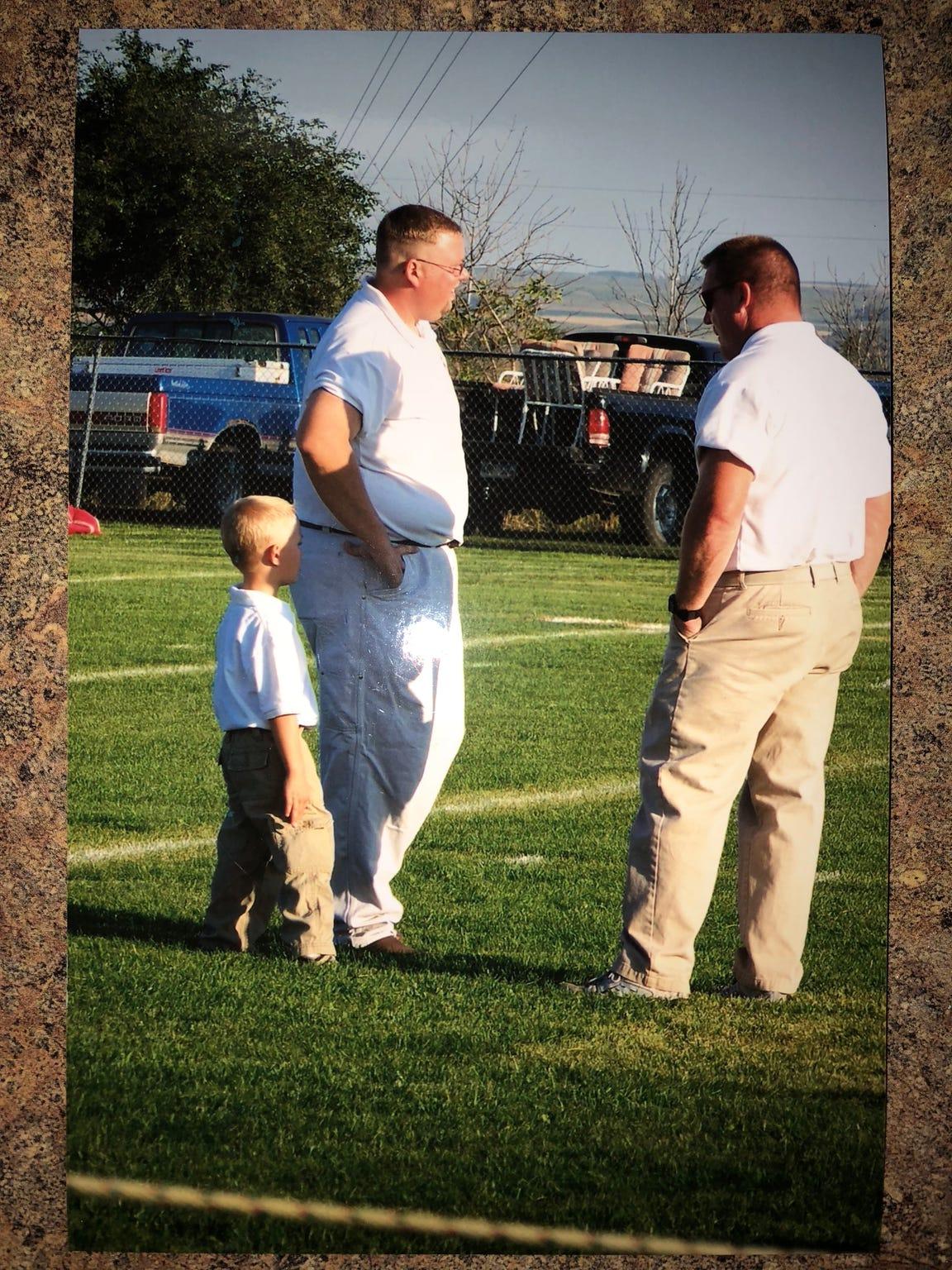Britton-Hecla's Trevor Zuehlke (left) and coach Pat Renner.