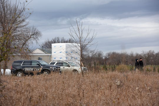 The Sioux Falls Crime Lab is on standby as cadaver dogs search for the remains of Ellabeth Lodermeier on Wednesday morning, Nov. 13, on the east side of Sioux Falls. Lodermeier has been missing for 45 years.