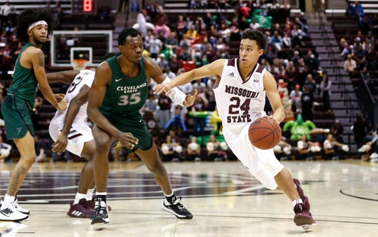 The Missouri State Bears took on the Cleveland State Vikings at JQH Arena on Tuesday, Nov. 12, 2019.