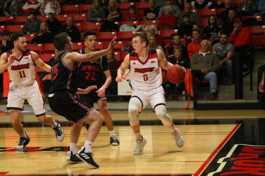 Junior guard Conley Garrison, shown in a file photo, led Drury with 24 points and six assists in Saturday's game against Lindenwood.