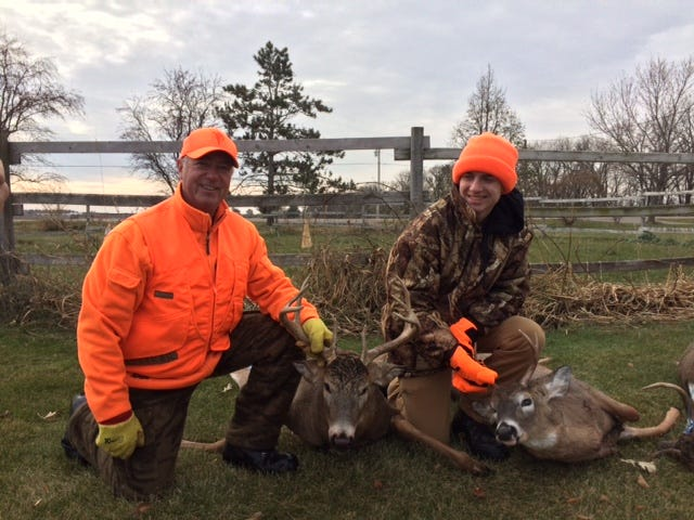 Brian Corrigan and his grandson Luke were successful opening weekend.