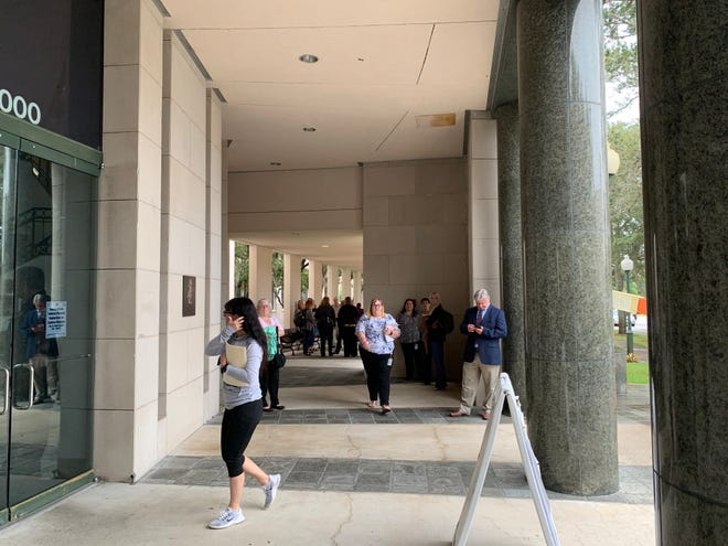 The Indian River County Courthouse was evacuated Wednesday, November 13, 2019 after a fire alarm was set off.