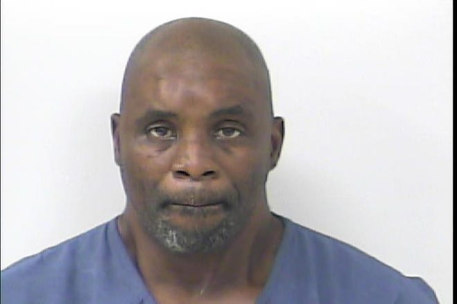"""John Ruff, 54, of Riviera Beach, was charged with aggravated battery with a deadly weapon after what officers are calling a """"violent road rage"""" incident."""