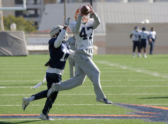 UTEP practiced Tuesday at Glory Road Field in preparation for their November, 16, meeting at UAB.