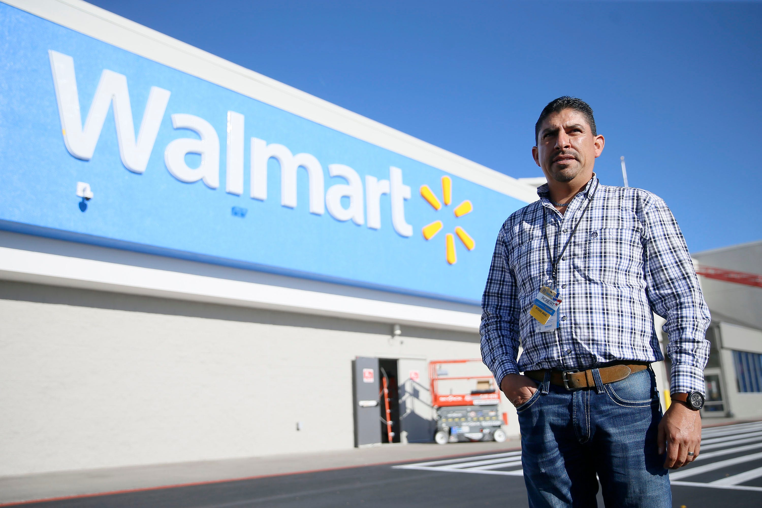 Walmart prepares on eve of reopening