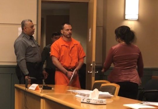 Michael Tedesco of Millville was in Cumberland County Superior Court on Tuesday for hearings. Any hope of a release from jail before trial was ended by Judge Cristen D'Arrigo. Tedesco is charged with killing his father.