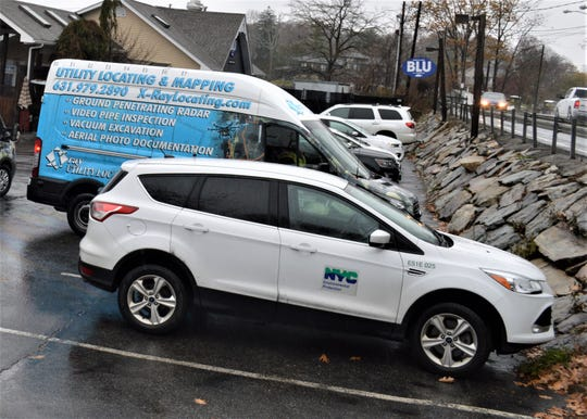 Investigators from New York City Department of Environmental Conservation and a town contractor arrived at Blu on Nov. 12.