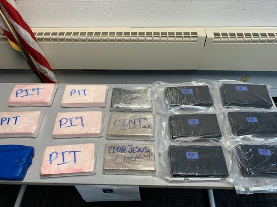 Clarkstown police said $2.4 million worth of drugs, including fentanyl, heroin and cocaine, were found in a truck they stopped in West Nyack on Sept. 25, 2019.