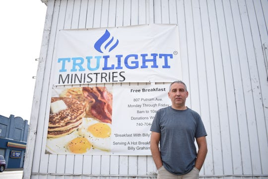 Ed Swartz, pastor at Trulight, is working to bring a warming shelter to Trulight Ministries this winter. He's holding work parties to get the community involved and hopes to get the shelter up and running by January.