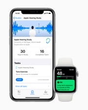 Apple Hearing Study within the Research app.