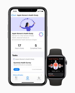 Apple Women's Health Study is one of three launch studies in the company's Research app.