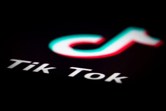 This file photo taken on December 14, 2018 in Paris, France shows the logo of the application TikTok.
