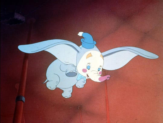 "A scene from the 1941 Disney classic ""Dumbo."""