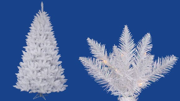 This all-white traditional Christmas tree is quite a hit with Amazon buyers—the reviews rave about how nice it looks in their homes.