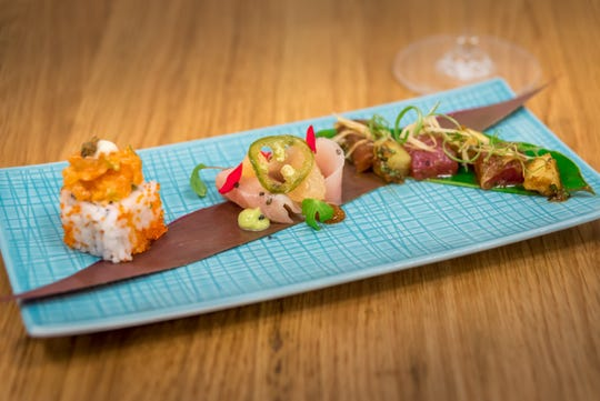 Haute and spicy sushi is on the Caribbean-Asian menu at Eating House 1503, Hawaiian Chef Roy Yamaguchi's first restaurant in the Caribbean. The number in the restaurant's name refers to the year the Caymans were first spotted by Christopher Columbus.