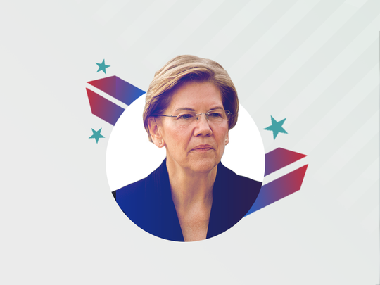 Democratic presidential candidate Elizabeth Warren.