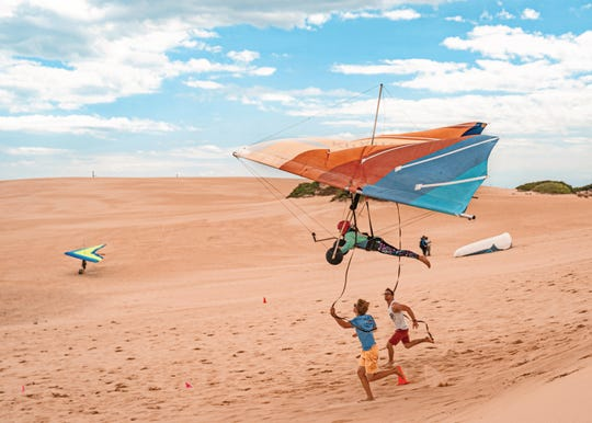 Hang gliding with Kitty Hawk Kites