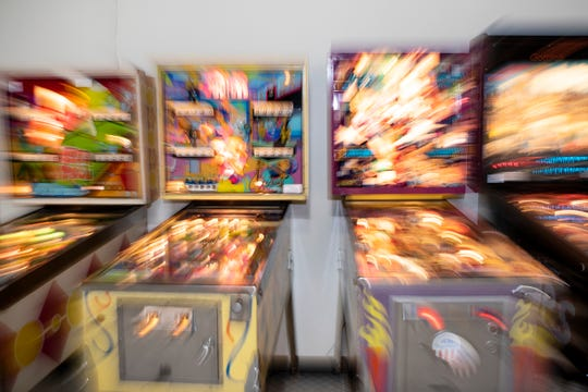 Terry Groves' Playable Pinball Museum is pictured inside McCamly Place on Thursday, Nov. 14, 2019 in Battle Creek, Mich.