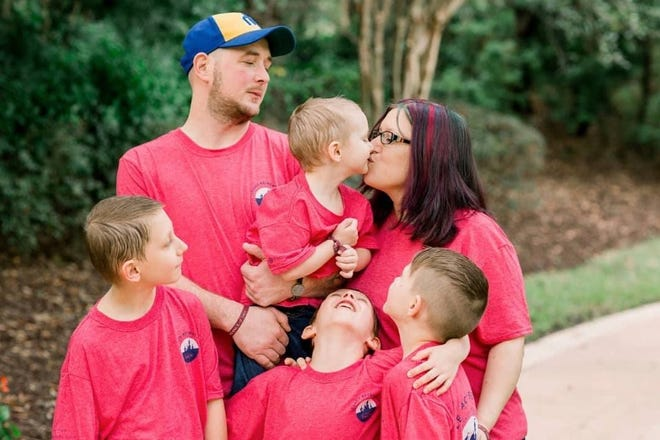 The Carter family of Port Orchard was selected to receive funds from the annual Hometown Holiday Benefit on Dec. 14 at Marcus Whitman Middle School. Rebekah recently died after a battle with metastatic breast cancer.