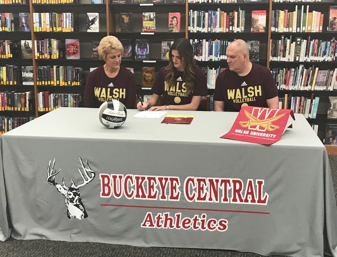 Buckeye Central's Lexi Evak signs her letter of intent to attend Walsh University for volleyball.