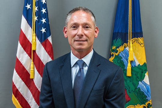 Vermont Department of Public Safety official photo of Commissioner Michael Schirling taken at Headquarters in Waterbury on Thursday, August 22, 2019.