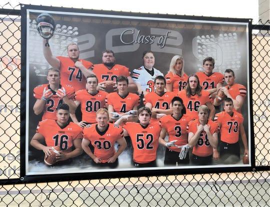 The Lawrenceburg football seniors, November 14, 2019