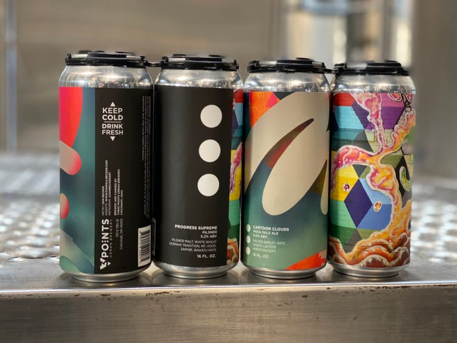3 Points Urban Brewery released their first batches of canned beer on Nov. 14.