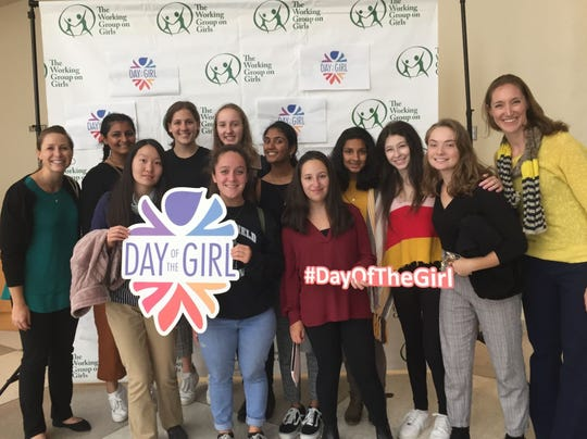 "Members of the Westfield High School Girls Learn International Club visit the United Nations in New York to attend the 2019 Day of the Girl Summit, an event held annually since 2011 when the U.N. General Assembly adopted a resolution to declare Oct. 11 the ""International Day of the Girl."""