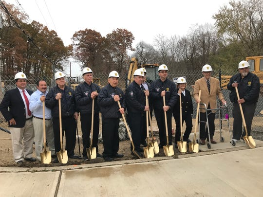 Monroe Township Fire District Three   broke ground on its new firehouse at 359 Schoolhouse Road Tuesday.