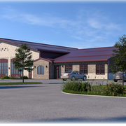 A rendering of the new Monroe Township Fire District Three firehouse at 359 Schoolhouse Road, Monroe.