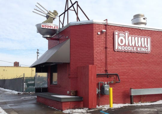 Johnny Noodle King is at 2601 W. Fort Street in Detroit in the shadow of the Ambassador Bridge and St. Anne's Catholic Church.