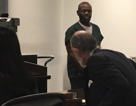 Kennith James Dupree during his preliminary examination on charges stemming from the rape and murder of 16-year-old Michelle Jackson in 1984.