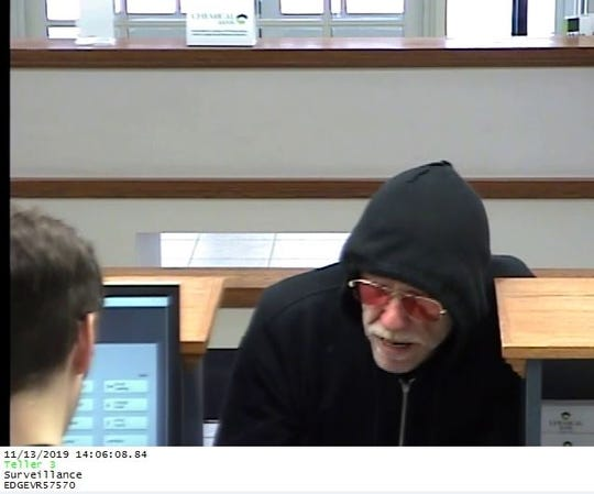 Police are asking for help to identify a man who robbed a Chemical Bank branch Wednesday in Marysville.