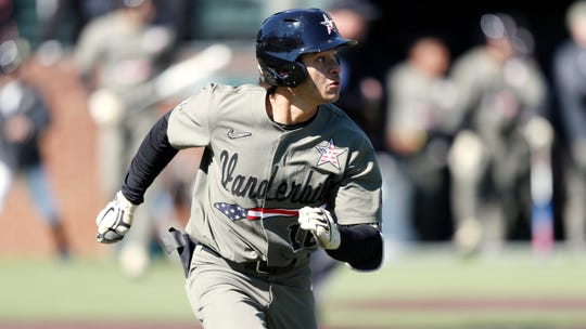 Vanderbilt star Austin Martin figures to be one of three favorites to be selected No. 1 overall in next June's Major League Baseball draft by the Tigers.